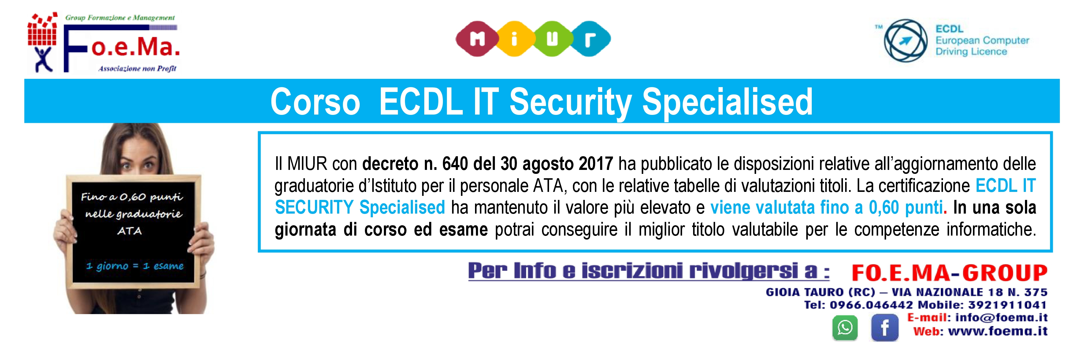 ECDL IT SECURITY SPECIALISED